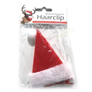 Haarclip mit Weihnachtsmütze