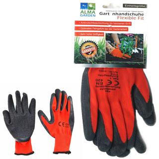 Gartenhandschuh rot-schwarz