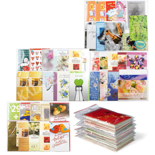 Glückwunschkarten 100 Stück