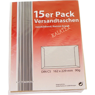 Versandtaschen DIN C5, 15er