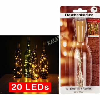 Flaschenkorken mit 20er LED-Lichterkette