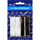 Klettband 4x30cm schwarz/weiß