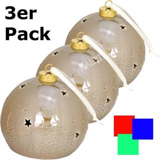 Keramikkugel mit LED 3er