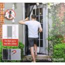 Fliegengitter für Tür schwarz 2-tlg