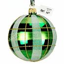 Weihnachtsbaumkugel grün 8cm