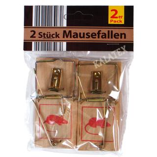 Mausefalle Holz, 2er Pack