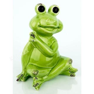 Dekofigur Frosch sitzend