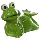 Dekofigur Frosch liegend klein