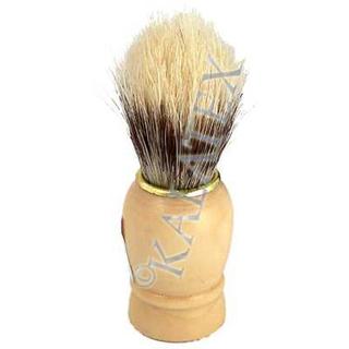 Rasierpinsel Holz mit Goldring