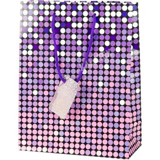 Geschenktasche Punkte lila