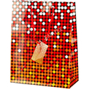 Geschenktasche Punkte rot