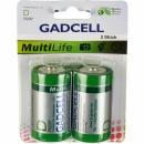 Batterie Gadcell D R20, 2er