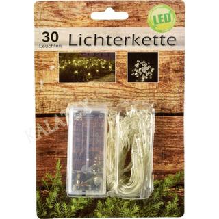 Lichterkette 30 LED warmweiss
