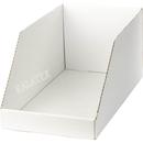 Verkaufsschütte Karton weiss 25x44x20cm
