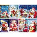 Weihnachtskarten Weihnachtsmannmotiv