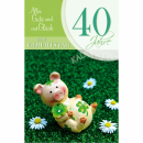 Geburtstagskarten Zahlengeburtstag 30 bis 60