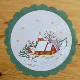 Tischdecke Winterlandschaft rund