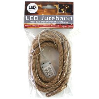 Juteband mit 10 LED