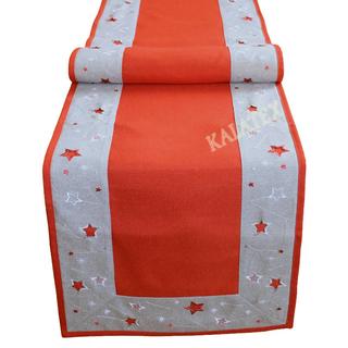 Tischdecke Sterne rot 40x170 cm