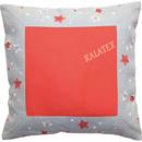 Kissenhülle Sterne rot 40x40 cm