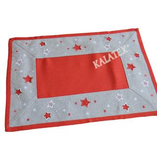 Tischdecke Sterne rot 35x50 cm