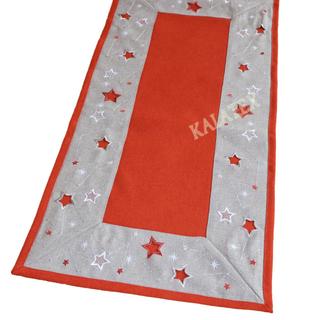 Tischdecke Sterne rot 35x70 cm