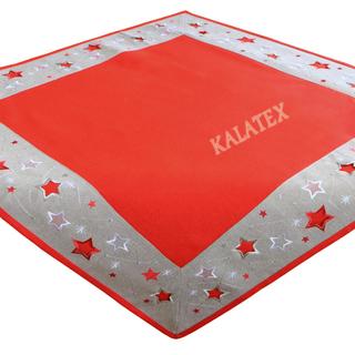 Tischdecke Sterne rot 85x85 cm