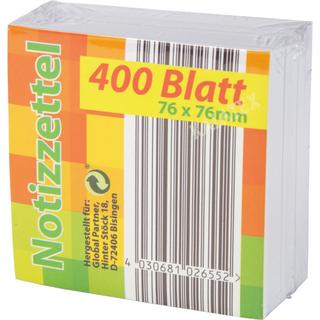 Notizzettel 76x76mm, 400 Blatt