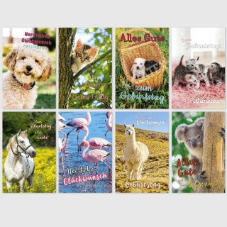 Geburtstagskarten Tiermotive