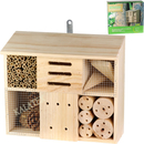 Insektenhotel aus Holz Quadrat