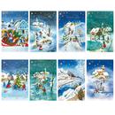 Karten Weihnachten gemalte Motive