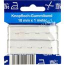 Knopfloch Gummiband 18mm