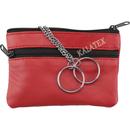 Schlüsseletui Leder mit 2 Taschen