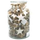Sterne weiß aus Mangoholz