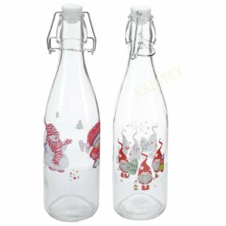 Bügelverschlussflasche Weihnachtsmotiv 500ml