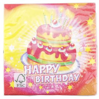 Servietten Happy Birthday, 20er