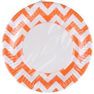 Partyteller Zick-Zack-Muster orange