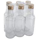 Glasflasche 200 ml 6er