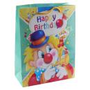 Geschenktasche Happy Birthday Clown 3D