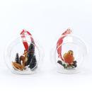Glaskugel mit Tieren 2er