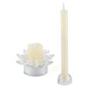 2 in 1 LED Glasblüte mit 2 Kerzen