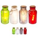 Deko-Glasflasche mit Juteband und 5 LED