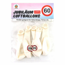 Luftballons Geburtstag 60 weiß 5er Pack
