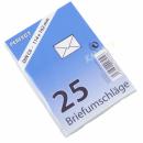 Briefumschlag C6 weiß 25er