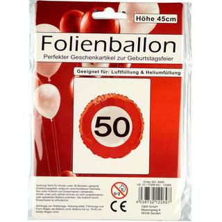 Folienballon 50ter Geburtstag
