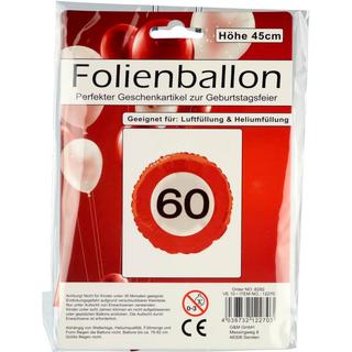 Folienballon 60ter Geburtstag