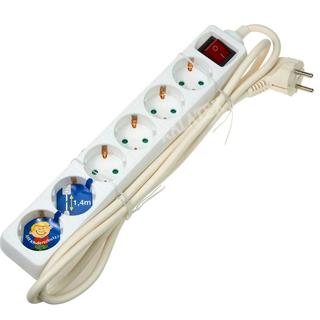 Steckdosenleiste 6er mit Schalter