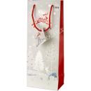 Geschenktasche Flasche Weihnachten