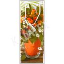 Geschenktasche Flasche Blumen